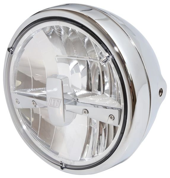 7 INCH Chrome Universal Metal Classic Headlight 6 lens Side Mount